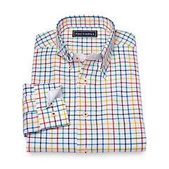 1960s Mens Shirts- Dress, Mod, T-Shirt, Turtleneck Slim Fit Cotton Windowpane Sport Shirt $70.00 AT vintagedancer.com