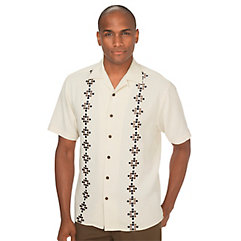 Rockabilly Men's Clothing Silk Embroidered Sport Shirt $90.00 AT vintagedancer.com