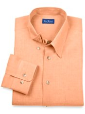 100% Linen Hidden Button Down Collar Sport Shirt