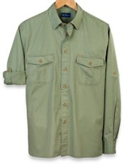 Washed Twill Straight Collar Sport Shirt
