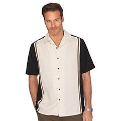 100 Silk Panel Camp Shirt $100.00 AT vintagedancer.com