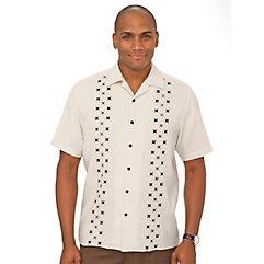 1950s Style Mens Shirts Silk Embroidered Sport Shirt $80.00 AT vintagedancer.com