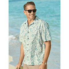 1960s – 1970s Mens Shirts- Dress, Mod, T-Shirt, Turtleneck Cotton Paisley Sport Shirt $60.00 AT vintagedancer.com