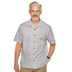 1950s Style Mens Shirts Cotton Printed Motif Sport Shirt $60.00 AT vintagedancer.com