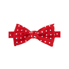 Dots Woven Silk Pre-Tied Bow Tie $33.00 AT vintagedancer.com