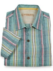 Tommy Bahama® Cool Rummings Linen Plaid Camp Shirt