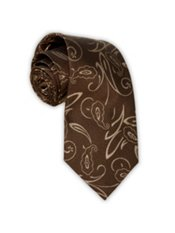 Woven Silk Abstract Paisley Tie