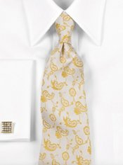Abstract Paisley Silk Tie