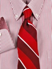 Tonal Framed Striped Silk Tie