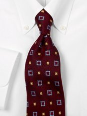 Luxury 7-Fold Deco Squares Silk Tie
