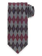 Argyle Woven Italian Silk Tie