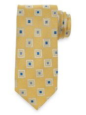 Abstract Square Woven Silk Tie