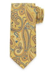 Abstract Floral Woven Silk Tie
