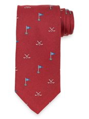 Golf Club Woven Italian Silk Tie