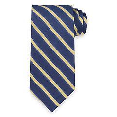 Stripe Woven Silk Tie $70.00 AT vintagedancer.com