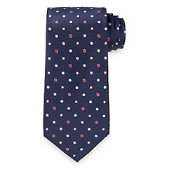 Dots Woven Silk Tie $30.00 AT vintagedancer.com