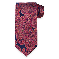 Paisley Woven Silk Tie $70.00 AT vintagedancer.com