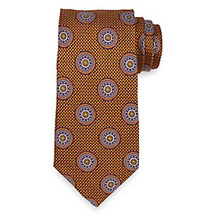 Medallion Woven Italian Silk Tie $30.00 AT vintagedancer.com