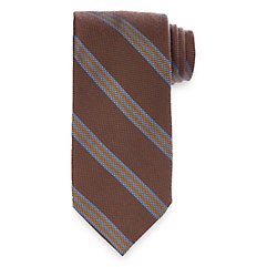 New 1930s Mens Fashion Ties Stripe Woven Italian Wool Blend Tie $15.00 AT vintagedancer.com