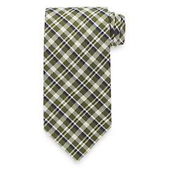 New 1930s Mens Fashion Ties Plaid Woven Silk Tie $15.00 AT vintagedancer.com