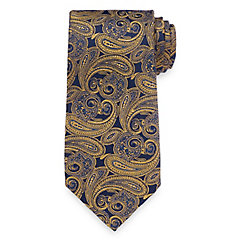 Historyof1920sMensTiesNecktiesBowties Paisley Woven Silk Tie $30.00 AT vintagedancer.com