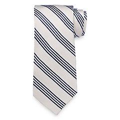 New 1940s Men's Ties, Neckties, Pocket Squares Stripe Woven Silk Tie $30.00 AT vintagedancer.com
