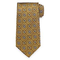 Historyof1920sMensTiesNecktiesBowties Medallion Woven Silk Tie $30.00 AT vintagedancer.com