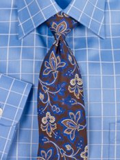 Botanical Printed Silk Tie
