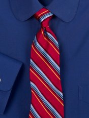 Multi Color Striped Woven Silk Tie