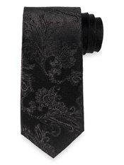Textured Solid Woven Silk Tie