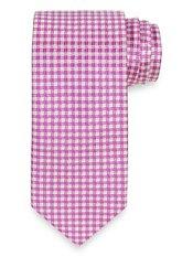 Mini Geometric Woven Silk Tie