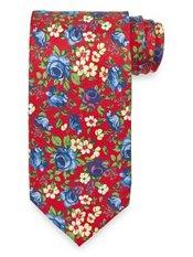 Floral Printed Handmade Italian 7-fold Silk Tie