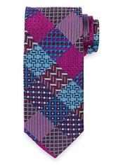 Patchwork Woven Silk Tie