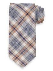 Plaid Woven Silk Tie