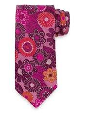 Floral Woven Italian Silk Tie