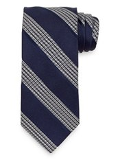 Stripe Woven Handmade Italian 7-fold Silk Tie