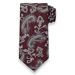 Paisley Woven Silk Tie $50.00 AT vintagedancer.com