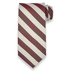 Stripe Woven Silk Tie $50.00 AT vintagedancer.com