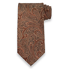 Paisley Woven Silk Tie $50.00 AT vintagedancer.com