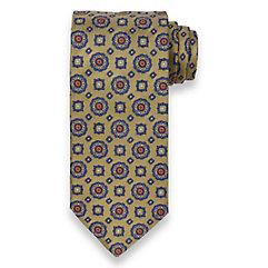 Medallion Woven Italian Silk Tie $50.00 AT vintagedancer.com
