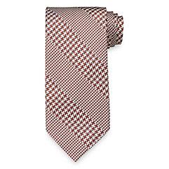 New 1940s Men's Ties, Neckties, Pocket Squares Stripe Woven Italian Silk Tie $30.00 AT vintagedancer.com