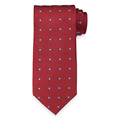 New 1920s Mens Ties & Bow Ties Dots Woven Silk Tie $73.00 AT vintagedancer.com