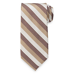 1940s Style Mens Clothing Stripe Woven Silk Tie $73.00 AT vintagedancer.com