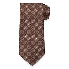 New 1930s Mens Fashion Ties Medallion Woven Silk Tie $30.00 AT vintagedancer.com