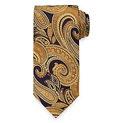 New 1920s Mens Ties & Bow Ties Paisley Woven Italian Silk Blend Tie $73.00 AT vintagedancer.com
