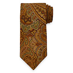 New 1920s Mens Ties & Bow Ties Paisley Woven Italian Cotton Corduroy Tie $73.00 AT vintagedancer.com