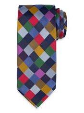 Check Woven Silk Tie