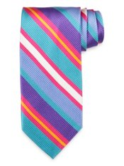Multi Striped Woven Silk Tie