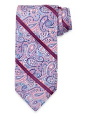 Striped Woven Italian Silk 7-Fold Tie