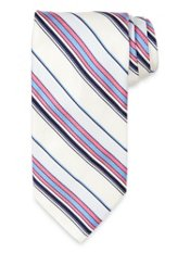Striped Woven Italian 7-Fold Silk Tie